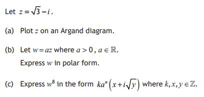 Polar Form - Advanced Higher Maths