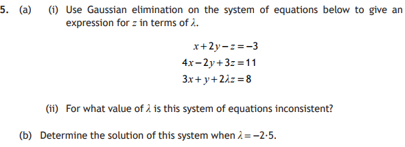 Systems of Equations - Advanced Higher Maths