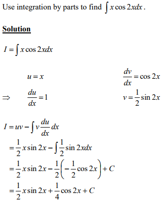 Integration By Parts Advanced Higher Maths